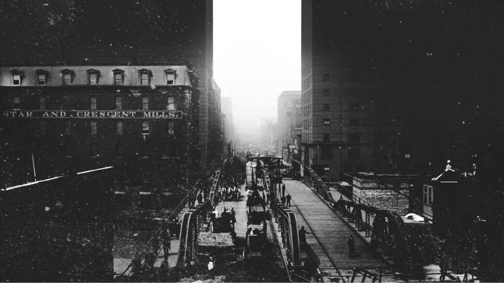 """""""The Reversal"""" animates thousands of archival photographs with an original soundscape composition to experience the formative years of our contemporary planetary crisis through the history of an urban river."""