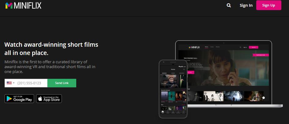 Miniflix Website - Online streaming for shortfilms